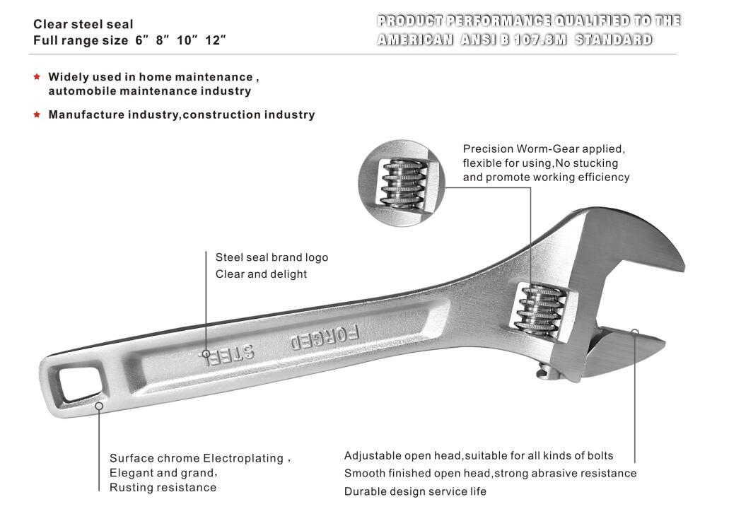 Adjustable Spanner Manufacturers Mail: FORGE Adjustable Wrench Wholesale,Adjustable Wrench