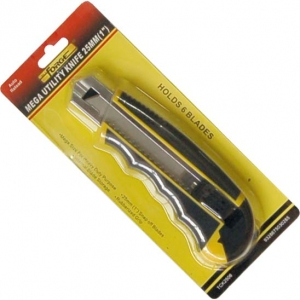 Mega Utility Knife Auto Reload 6 Blades 25mm wholesale