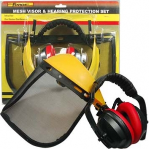 FORGE® Handyman Mesh Visor & Ear Muff Set supplies