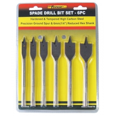 6PCS Flat Wood Drill Bits Set wholesale