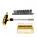 Screwdriver Handle & Bit & Socket Set 20pcs