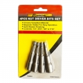 FORGE® 4PCS Nut Driver Bits Set